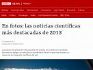 En fotos: las noticias científicas más destacadas de 2013.