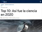 Top 10: Así fue la ciencia en 2020.