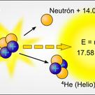 Fusión nuclear de dos átomos de hidrógeno